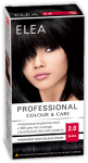 "Hair Colour ""Elea Proffesional Colour&Care"" - № 2/0 Black"