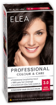 "Hair Colour ""Elea Proffesional Colour&Care"" - № 3/0 Dark brown"