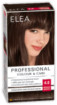 "Hair Colour ""Elea Proffesional Colour&Care"" - № 4/0 Medium brown"
