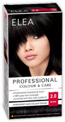 "Боя за коса ""Elea Proffesional Colour&Care"" - № 2/0 Черен"