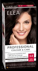 """Hair Colour """"Elea Proffesional Colour&Care"""" - № 3/0 Dark brown"""