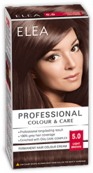 "Hair Colour ""Elea Proffesional Colour&Care"" - № 5/0 Light brown"