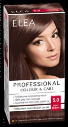"Боя за коса ""Elea Proffesional Colour&Care"" - № 5/0 Светло кафяв"
