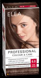 "Боя за коса ""Elea Proffesional Colour&Care"" - № 6/0 Тъмно рус"