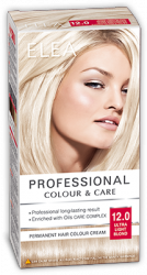 "Боя за коса ""Elea Proffesional Colour&Care"" - № 12/0 Ултра светло рус"