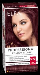 "Боя за коса ""Elea Proffesional Colour&Care"" - № 5/22 Тъмен махагон"