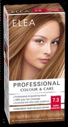 "Боя за коса ""Elea Proffesional Colour&Care"" - № 7/3 Топъл лешник"