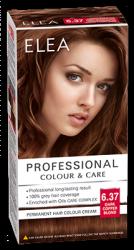 """Боя за коса """"Elea Proffesional Colour&Care"""" - № 6/37 Тъмно медно рус"""