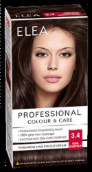 """Боя за коса """"Elea Proffesional Colour&Care"""" - № 3/4 Тъмен кестен"""