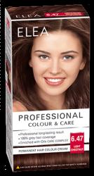 """Боя за коса """"Elea Proffesional Colour&Care"""" - № 6/47 Светъл кестен"""