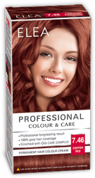 "Hair Colour ""Elea Proffesional Colour&Care"" - № 7/46 Copper red"