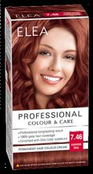 """Боя за коса """"Elea Proffesional Colour&Care"""" - № 7/46 Медно червен"""
