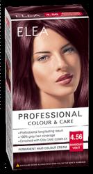 "Боя за коса ""Elea Proffesional Colour&Care"" - № 4/56 Махагон виолет"