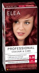 "Боя за коса ""Elea Proffesional Colour&Care"" - № 6/56 Светъл махагон"