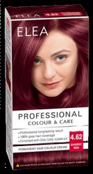 "Боя за коса ""Elea Proffesional Colour&Care"" - № 4/62 Вишнево червен"