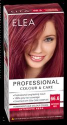 "Боя за коса ""Elea Proffesional Colour&Care"" - № 66/6 Наситено червен"
