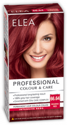 "Боя за коса ""Elea Proffesional Colour&Care"" - № 66/64 Огнено червен"
