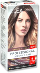 "Комплект ""Elea Professional Colour & Care"" Ombre Effect № 6 - От светло кафяво до тъмно кафяво"