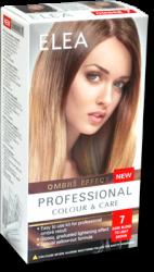"Комплект ""Elea Professional Colour & Care"" Ombre Effect № 7 - От тъмно русо до светло кафяво"